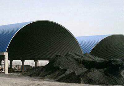 自贡彩钢拱形屋顶定做